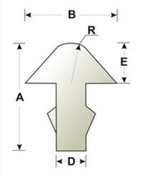 Изображение Лады для гитары нейзильберовые треугольные