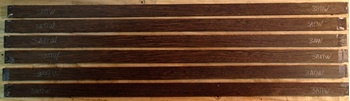 Изображение Венге, заготовка заглушки анкерного паза