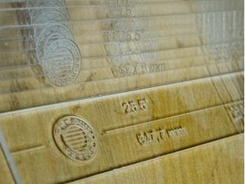 Изображение Шаблоны для разметки гитарных ладов - ладовые линейки